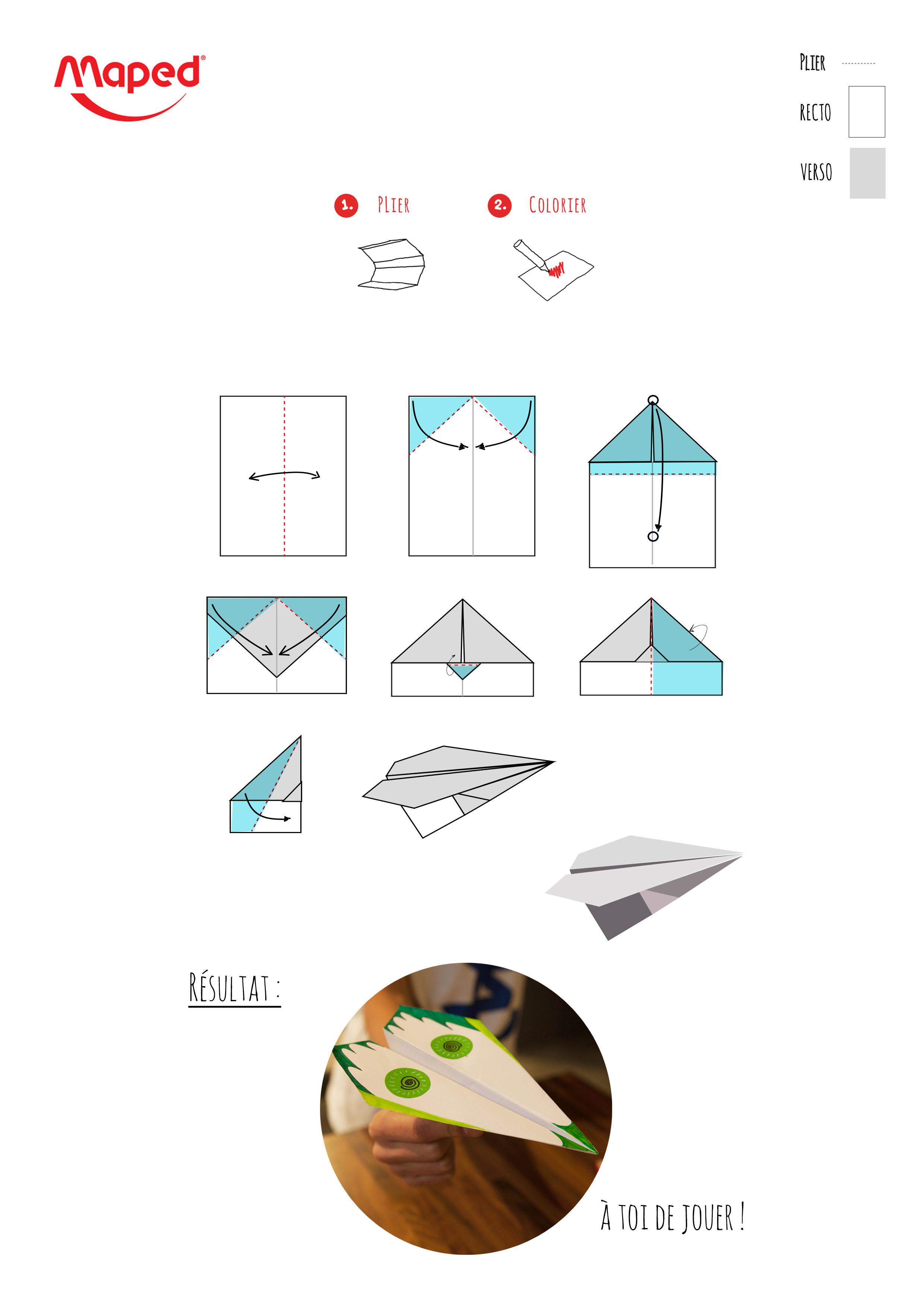 comment faire un avion en papier. Black Bedroom Furniture Sets. Home Design Ideas
