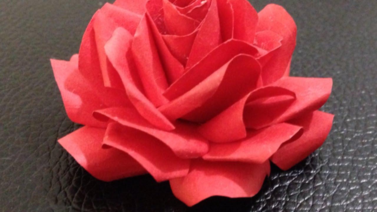 comment faire des roses en papier de soie. Black Bedroom Furniture Sets. Home Design Ideas